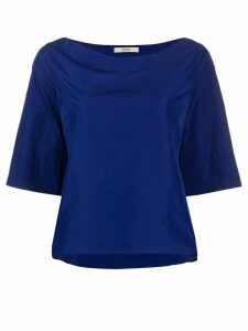 Odeeh boat neck blouse - Blue