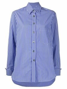 Odeeh long sleeve striped print shirt - Blue