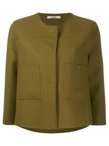 Odeeh collarless short jacket - Green