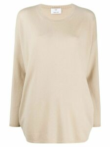 Allude boxy fit fine knit jumper - NEUTRALS