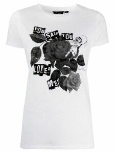 Richard Quinn short sleeve rose print T-shirt - White