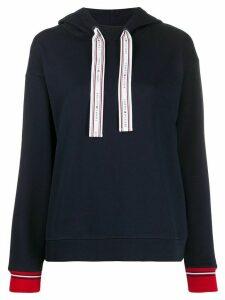 Tommy Hilfiger logo drawstring hoodie - Blue