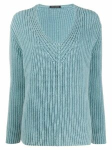 Iris Von Arnim V-neck jumper - Blue