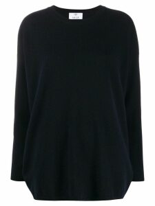 Allude boxy fit fine knit jumper - Blue