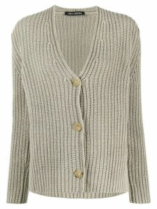 Iris Von Arnim chunky knit cardigan - Grey