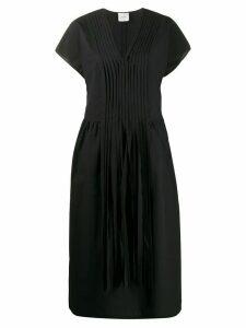 Alysi front pleat tassel detail dress - Black