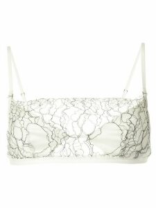 Dion Lee lace insert sheer blouse - White