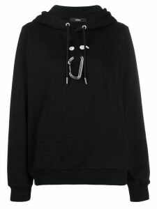 Diesel carabiner-clip hooded sweatshirt - Black