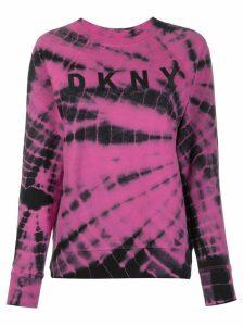 DKNY tie dye print jumper - PINK