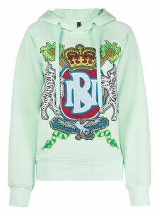 Neil Barrett logo crest hoodie - Green