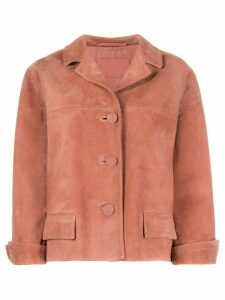 Prada cropped suede jacket - PINK