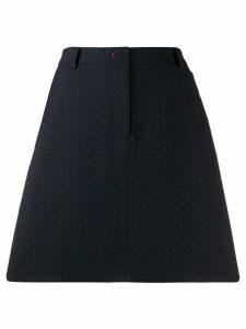 Tommy Hilfiger dotted jacquard A-line skirt - Blue