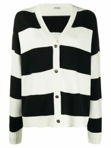 Miu Miu striped cardigan - Black