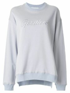GOODIOUS oversized logo embroidered sweatshirt - Blue