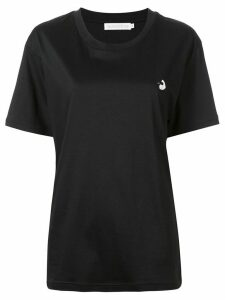 GOODIOUS slouchy slogan print T-shirt - Black