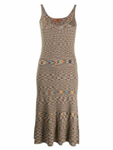 Missoni abstract print mid-length dress - NEUTRALS