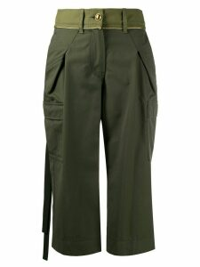 Sacai cargo pocket cropped trousers - Green