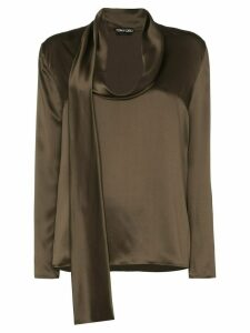 Tom Ford draped silk-satin blouse - Green