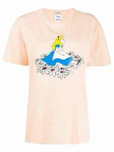 Miu Miu Alice in Wonderland print T-shirt - ORANGE