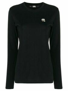 Karl Lagerfeld Ikonik longsleeve top - Black