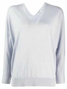 Peserico boxy V-neck jumper - Blue