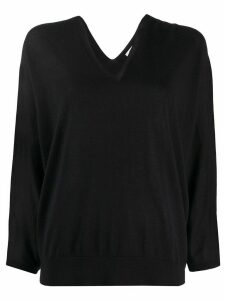 Peserico slouchy V-neck jumper - Blue