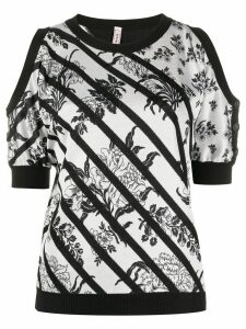 Antonio Marras striped floral jumper - White
