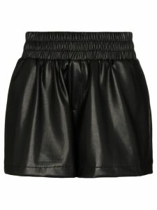 Les Rêveries leather effect shorts - Black
