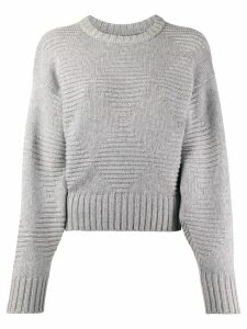 Pringle of Scotland blouson-sleeved diamond-knit sweater - Grey