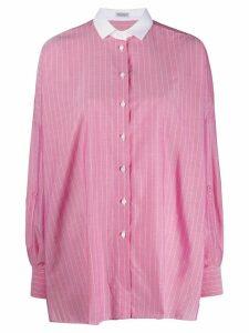 Brunello Cucinelli round neck blouse - PINK