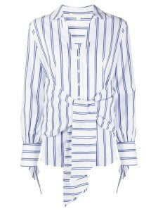Jonathan Simkhai striped tie-waist shirt - White