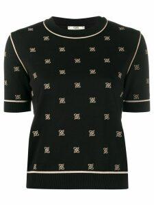 Fendi Karligraphy motif knitted top - Black