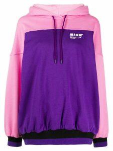 MSGM colour block logo hoodie - PINK