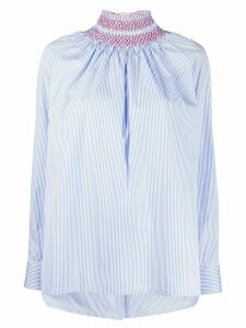 Prada striped high-neck shirt - Blue