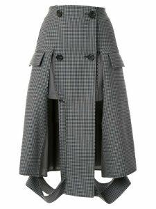 Maison Margiela houndstooth print button up skirt - Grey