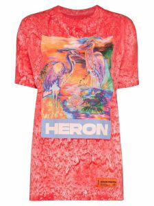 Heron Preston Heron birds print T-shirt - PINK