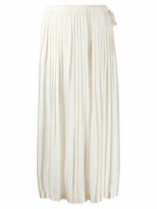 Valentino pleated midi skirt - NEUTRALS