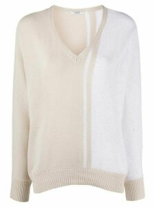 Peserico two-tone knit jumper - NEUTRALS