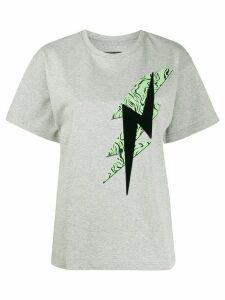 Isabel Marant lightening bolt print crew neck T-shirt - Grey
