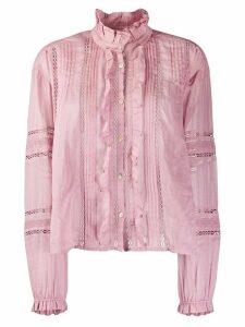 Isabel Marant Étoile ruffled trim shirt - PINK
