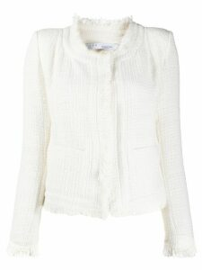IRO fitted tweed-effect jacket - White