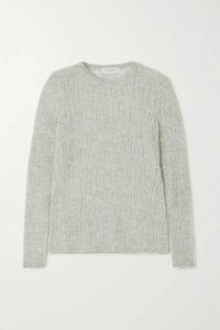 Gabriela Hearst - Carey Open-knit Cashmere And Silk-blend Sweater - Light gray