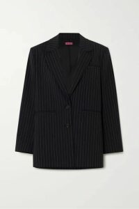 GAUGE81 - Luxor Oversized Pinstriped Wool-blend Blazer - Navy