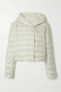 Max Mara - The Cube Cropped Hooded Quilted Shell Down Jacket - Off-white