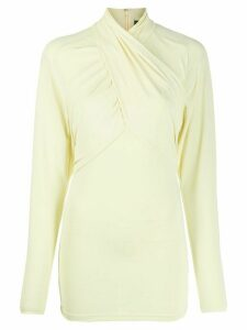 Isabel Marant stretch twist-neck top - Yellow