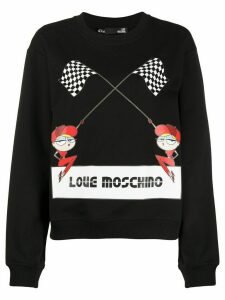 Love Moschino logo print sweatshirt - Black