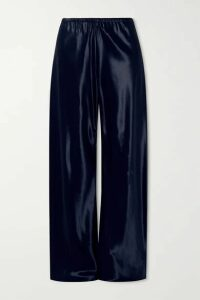 The Row - Gala Satin Wide-leg Pants - Navy
