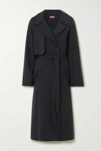 GAUGE81 - Nairobi Pinstriped Wool-blend Trench Coat - Navy