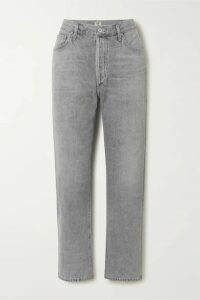 Citizens of Humanity - Mckenzie Cropped Organic Mid-rise Straight-leg Jeans - Gray