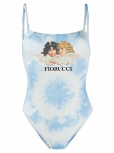 Fiorucci Angels tie dye one piece - Blue